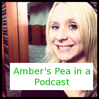 amber pea in a podcast